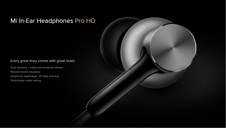 Mi In-Ear Headphones Pro HD to be available from 10th March @12 PM - Ear HD PNG