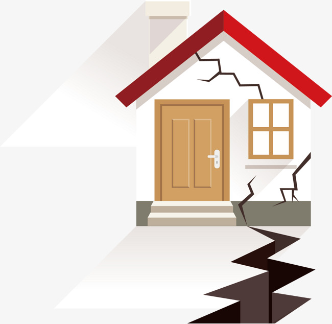 Earthquake House, Earthquake, Material, Modified House PNG and Vector - Earthquake PNG HD