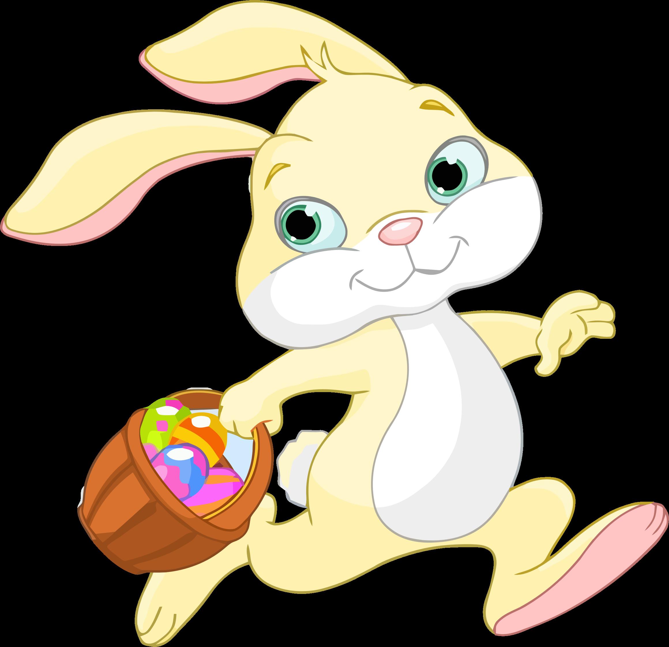 BIG IMAGE (PNG) - Easter Basket Bunny PNG