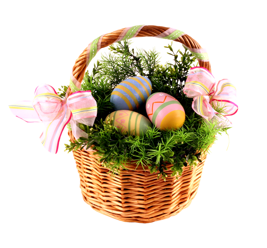Transparent Easter Basket and