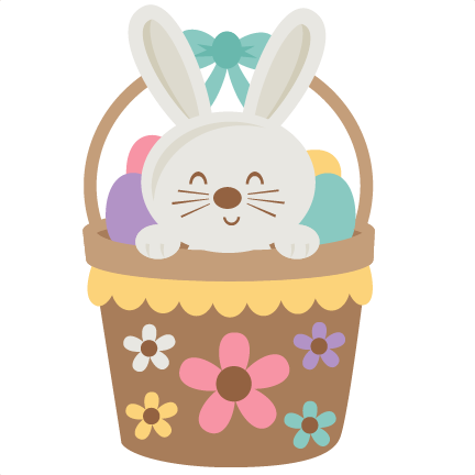 Easter Bunny in Basket - Easter Basket Bunny PNG