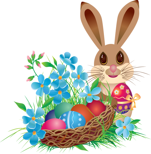 easter png | Easter-Bunny-with-Basket.png#Easter bunny - Easter Basket Bunny PNG