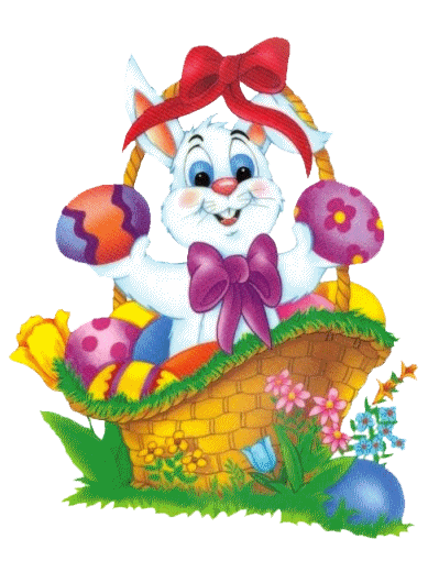 Easter Basket Bunny Png Pictu