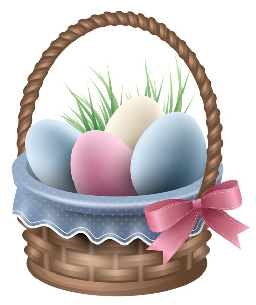 Transparent Easter Basket and Grass PNG Clipart Picture - Easter Basket Bunny PNG