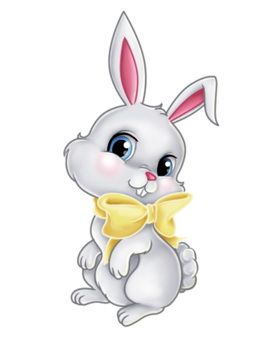 Transparent easter bunny