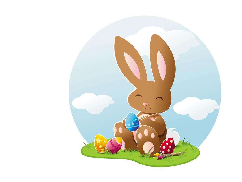 Easter Bunny Pictures - Easter Bunny With Eggs PNG