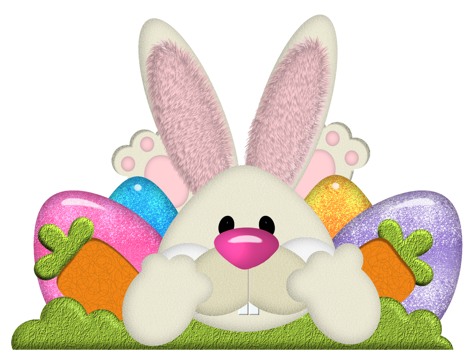 Easter Bunny PNG File - Easter Bunny With Eggs PNG