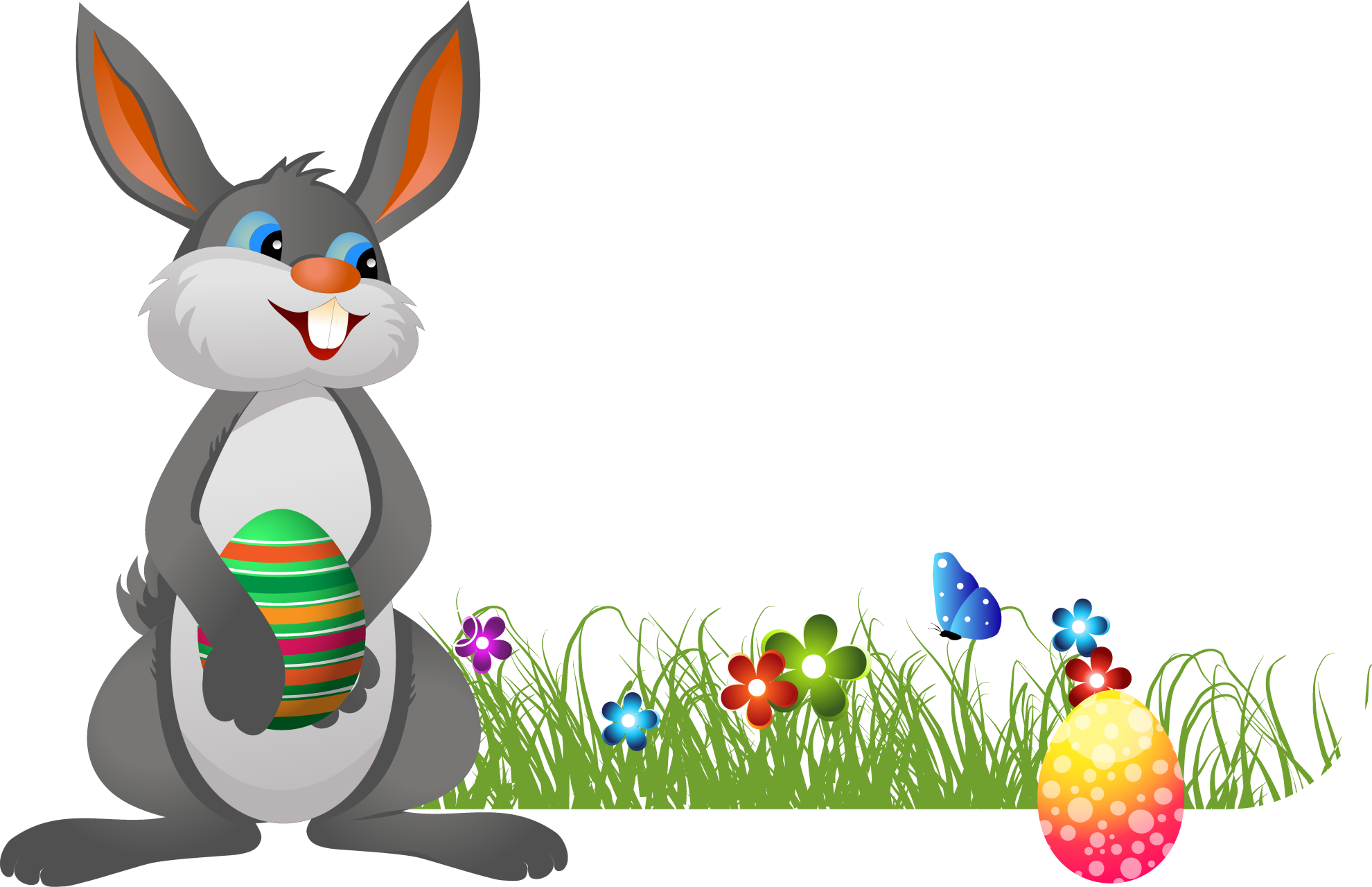 Easter Bunny PNG Pic - Easter Bunny With Eggs PNG