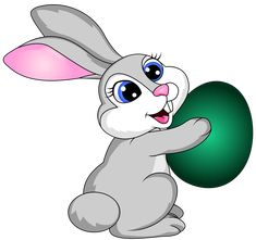 Easter Bunny With Egg Transparent PNG Clip Art Image - Easter Bunny With Eggs PNG