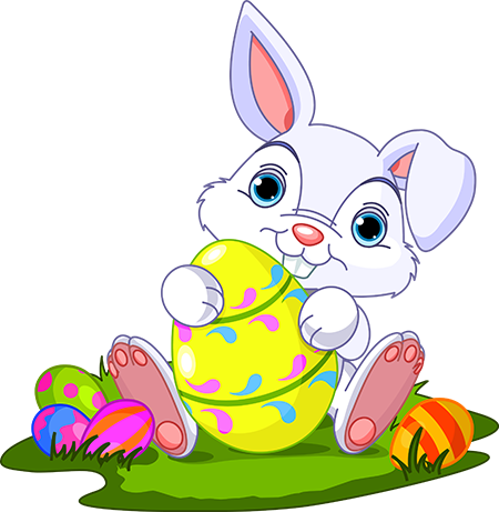Easter Bunny With Crown PNG C