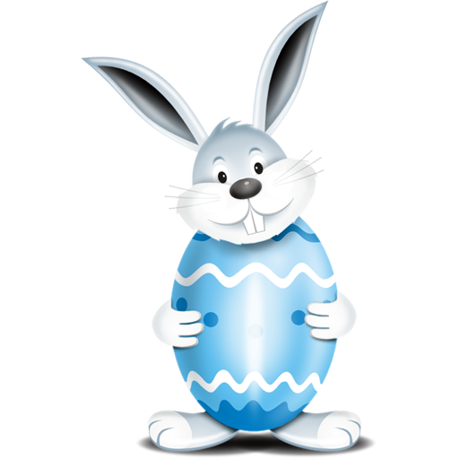 Share This Image - Easter Bunny With Eggs PNG