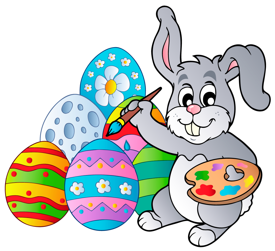 Transparent Easter Bunny with Eggs PNG Clipart Picture - Easter Bunny With Eggs PNG