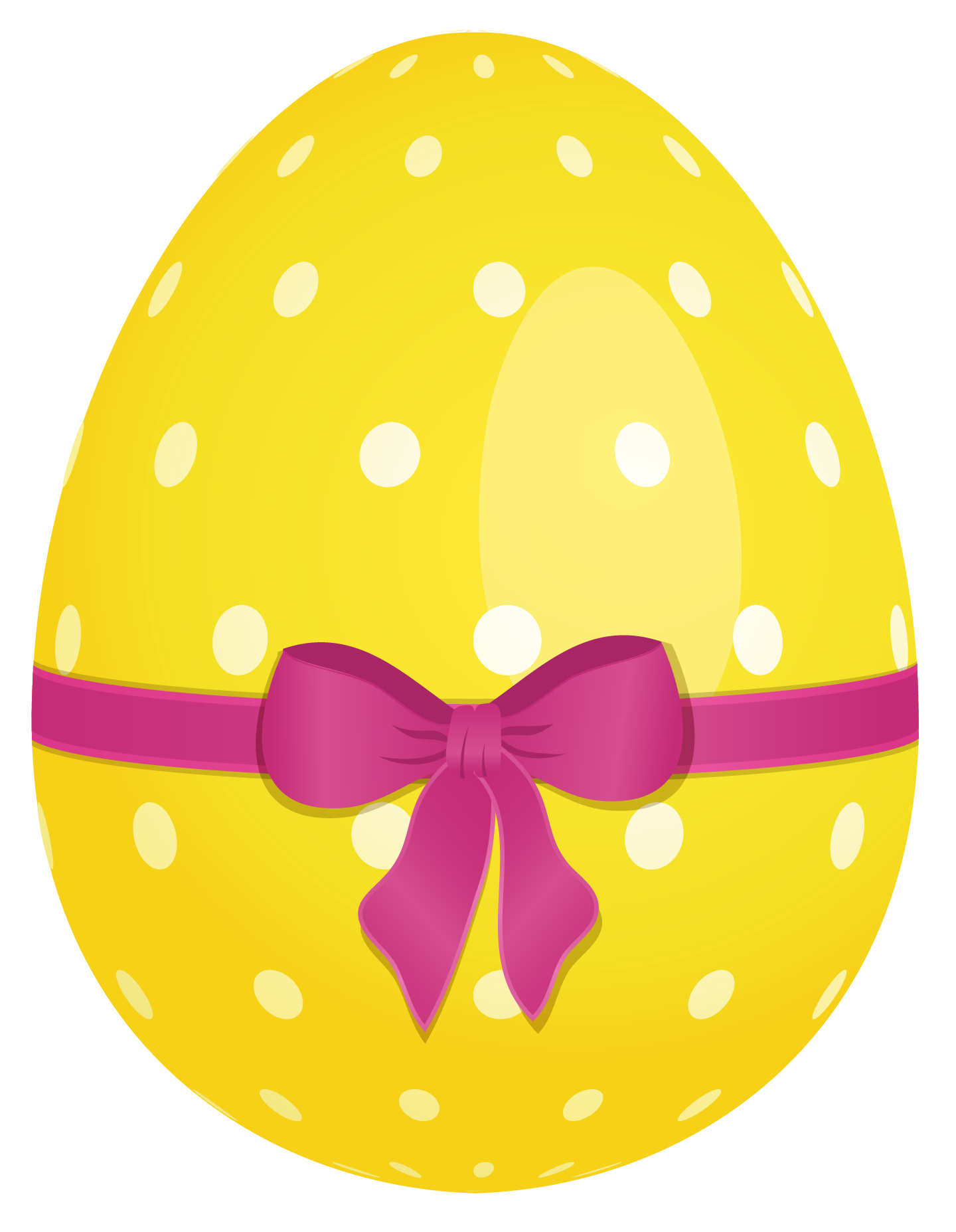 Easter Eggs Dotted Yellow PNG - Easter Eggs PNG