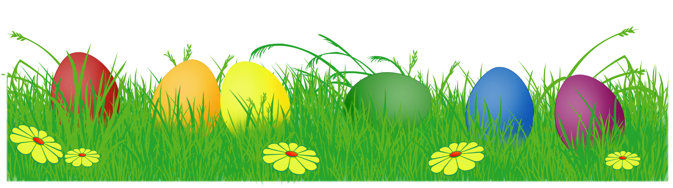 Easter Eggs In Grass PNG - Easter Eggs PNG