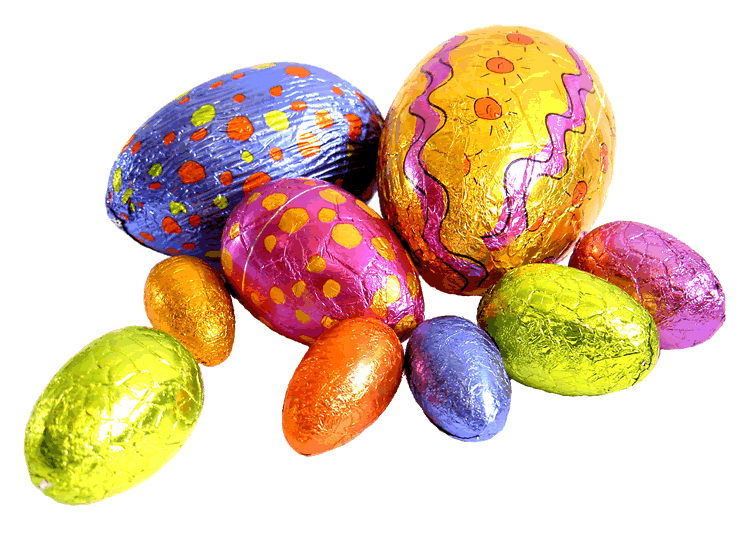File:Easter-Eggs no background.png - Easter Eggs PNG