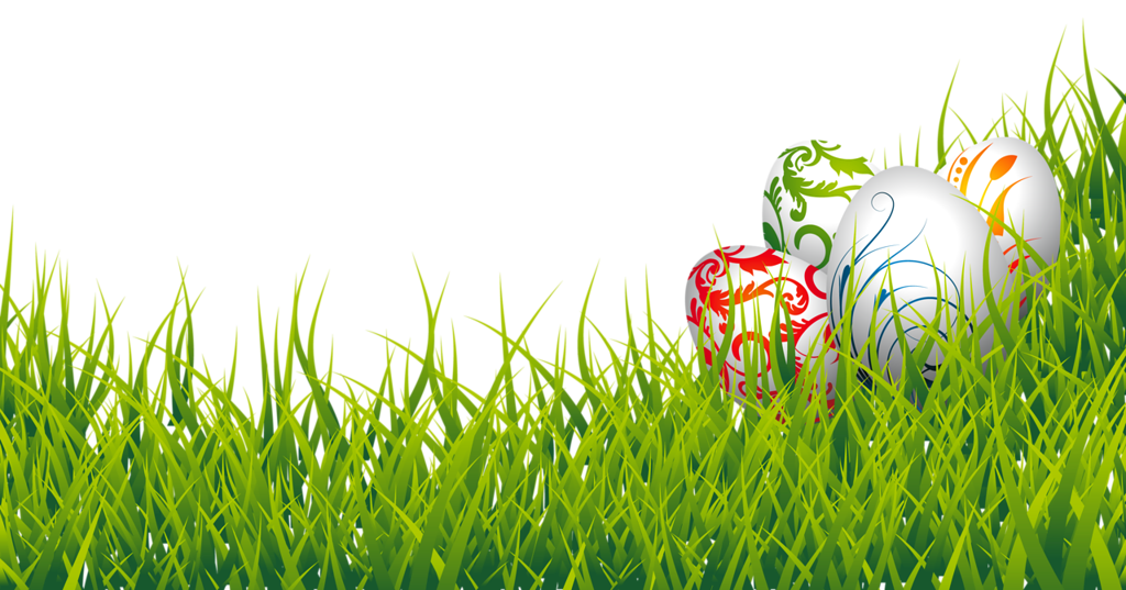 Floral Design Easter Eggs In Grass PNG - Easter Eggs PNG