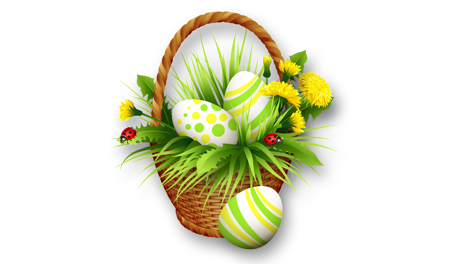 Download PNG Image - Easter Basket Bunny Png Clipart - Easter HD PNG