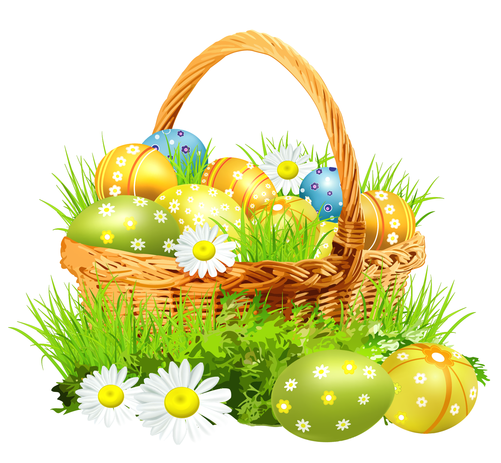 Easter Basket Bunny Png Picture PNG Image - Easter HD PNG