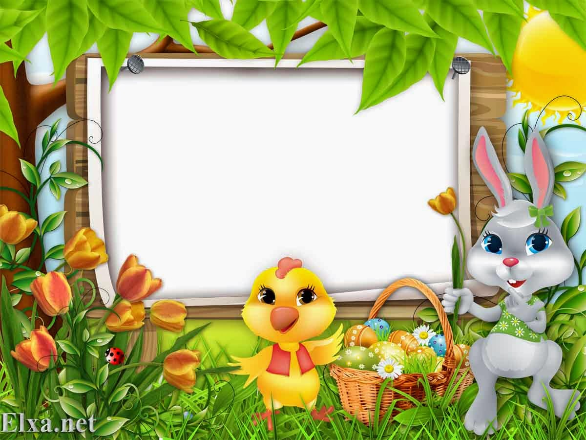 png frame easter frame HD kids frame HD kids frame png Children frame for  photo Children - Easter HD PNG