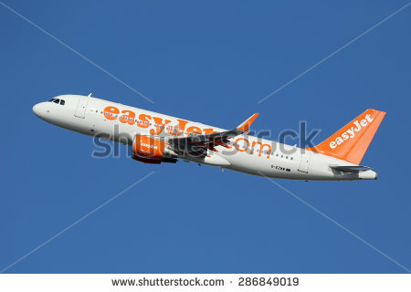 BARCELONA, SPAIN - DECEMBER 11: An easyJet Airbus A320 taking off on  December 11 - Easyjet Vector PNG