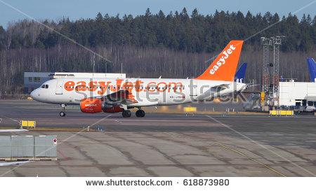 Easyjet Airbus at Stockholm Arlanda airport 2016-03 - Easyjet Vector PNG