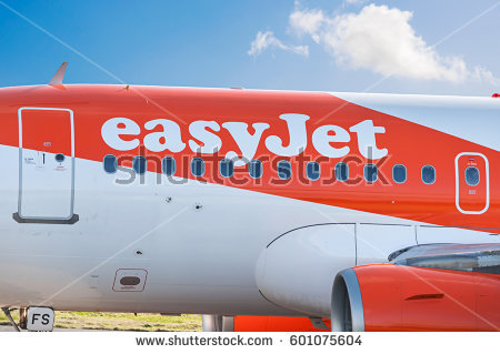 Manchester Airport, United Kingdom - February 7, 2017: EasyJet G-EZFS Airbus - Easyjet Vector PNG