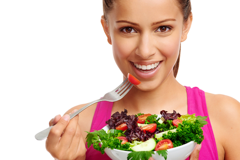 fit woman eating salad - Eat Healthy Food PNG