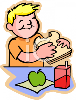 Boy Eating Lunch Clipart #1 - Eat Lunch PNG