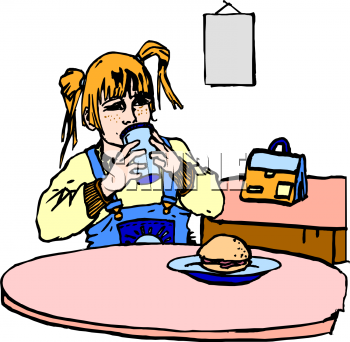 Burger in the Cafeteria - Eat Lunch PNG