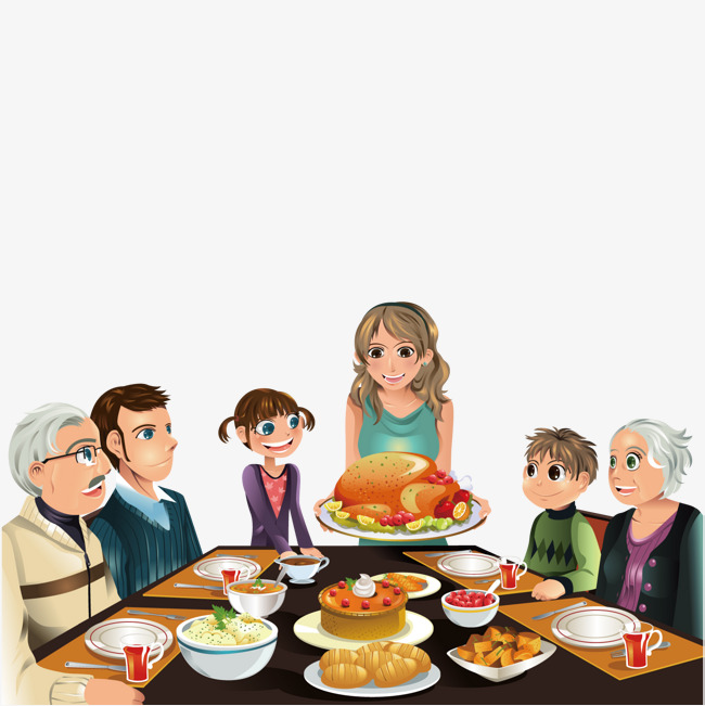 Eat a family, Family, Eat, Dinner PNG and Vector - Eat Lunch PNG