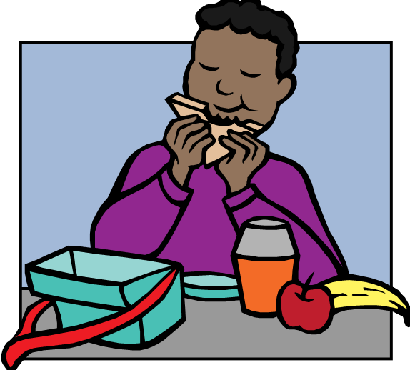 studentEatingLunch.png - Eat Lunch PNG
