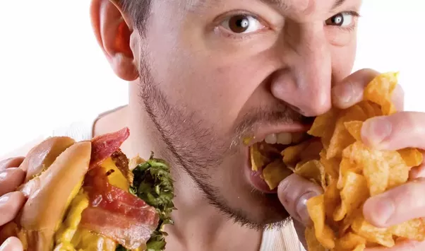 Calorie Density: Junk Foods Are Designed To Convince Your Brain That It Is  Getting Nutrition, But To Not Fill You Up. Receptors In Your Mouth And  Stomach PlusPng.com  - Eating Food PNG