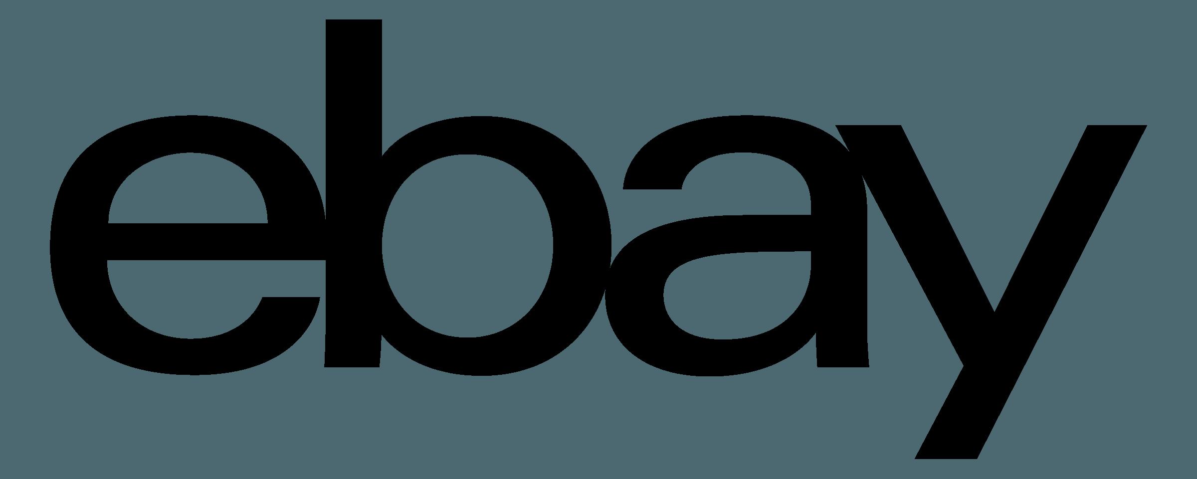 eBay Logo Black - Ebay Logo Vector PNG