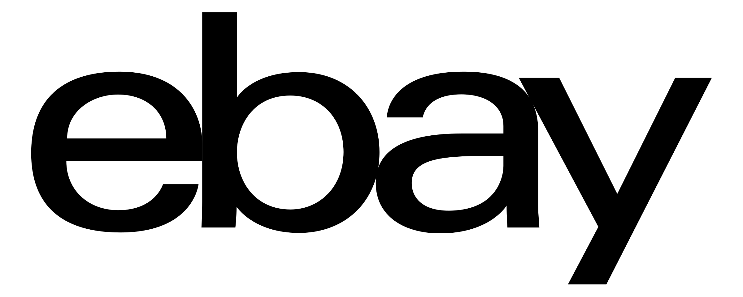 eBay Logo Black - Ebay Vector PNG