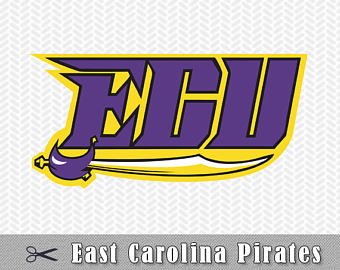 ECU Pirates Logo Layered SVG PNG Dxf Eps Vector Cut Files Silhouette Cameo  Cricut Design Template - Ecu Pirates PNG
