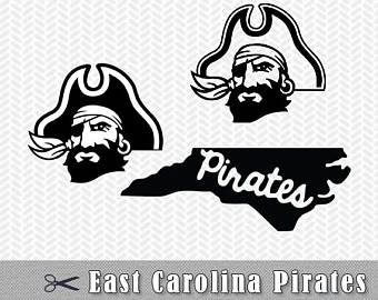 ECU Pirates Logo SVG PNG Vect
