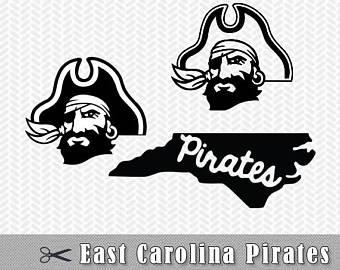 ECU Pirates Logo SVG PNG Vector Cut File Silhouette Studio Cricut Design  Template Stencil Vinyl Decal - Ecu Pirates PNG
