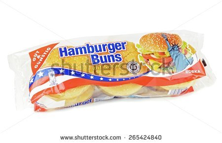 NIEDERSACHSEN, GERMANY - March 31, 2015: A pack of sesame hamburger buns  from - Edeka Vector PNG