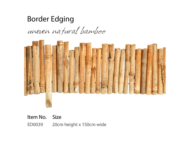 uneven natural bamboo - Edging PNG
