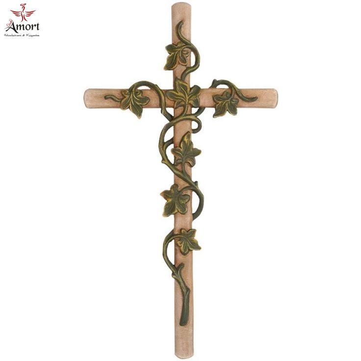 Kreuz-mit-Efeuranken-Holz-geschnitzt.jpg (800×800) - Efeuranken PNG