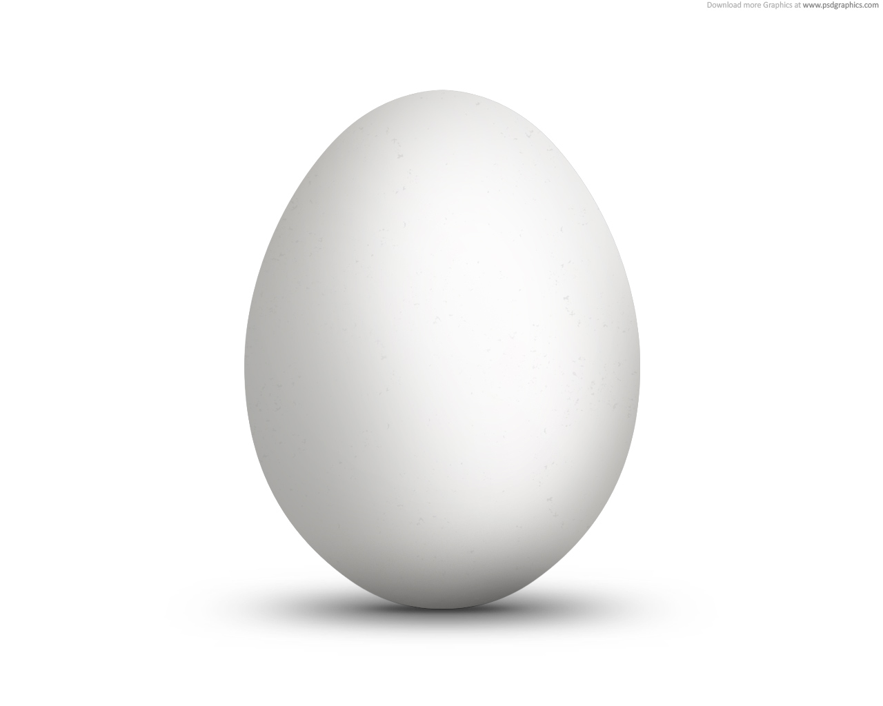 White - Egg HD PNG