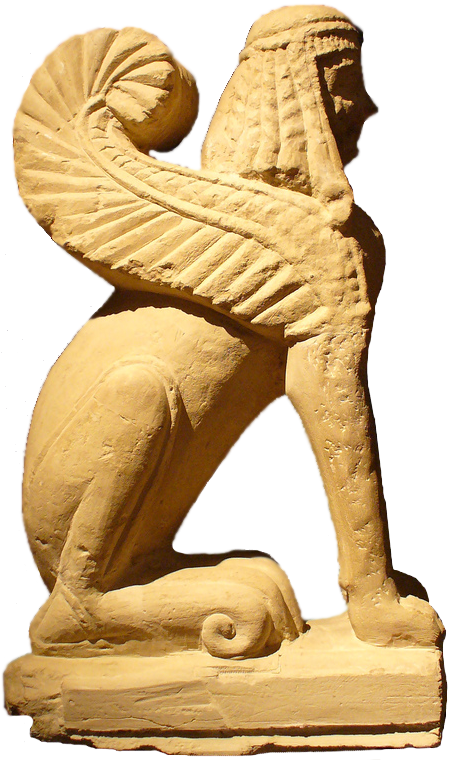 File:Chiusi etrusc sphinx.png - Egyptian Sphinx PNG