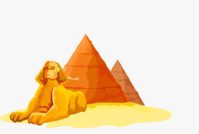 Sphinx, Pyramid, Egypt, Egyptian Architecture Free PNG and Vector - Egyptian Sphinx PNG