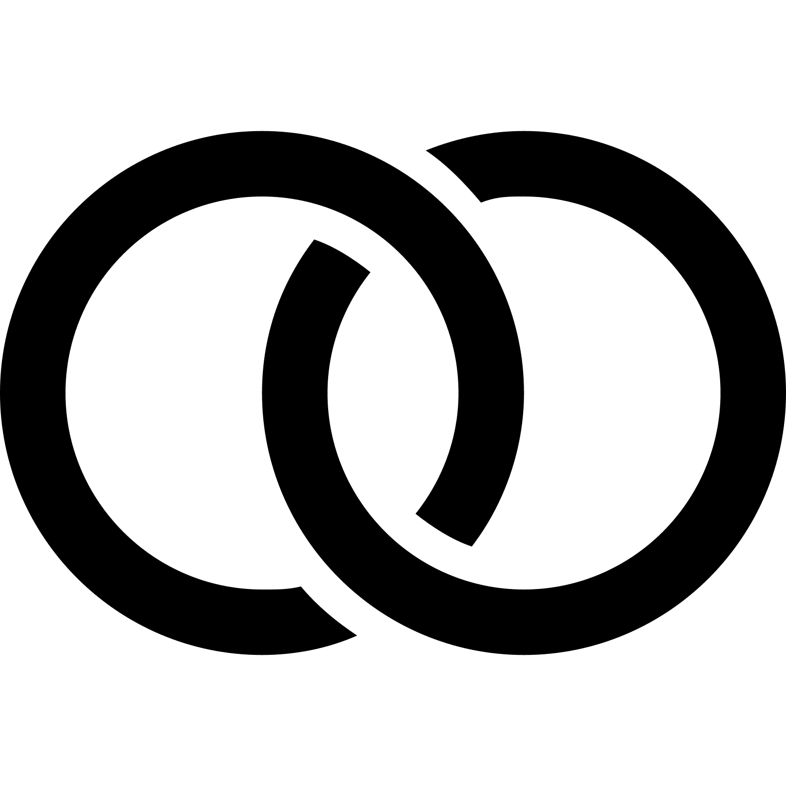 The Icon Of Wedding Rings Consists Of Two Circles Linked Together. The  Circles Are Like. PNG 50 Px - Eheringe Symbol PNG