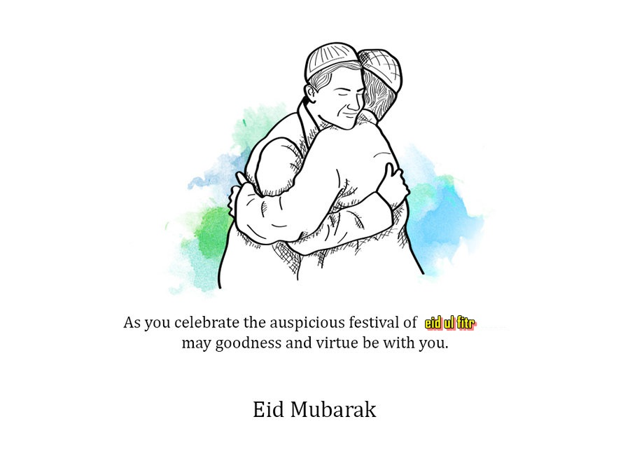 Eid Mubarak Hug Image HD Wallpaper - Eid Celebration For Kids PNG