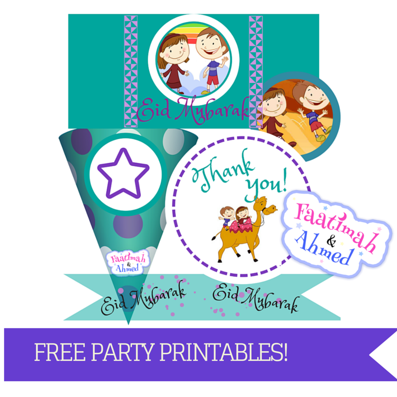 faatimah and ahmed eid printables - Eid Celebration For Kids PNG