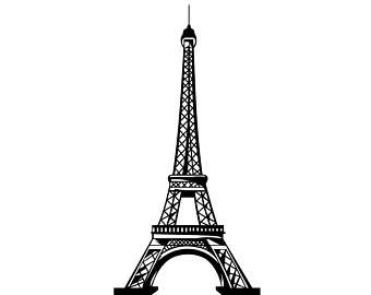Eiffel Tower Paris Graphics SVG Dxf EPS Png Cdr Ai Pdf Vector Art Clipart  instant download - Eiffel Tower PNG