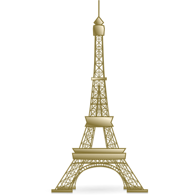 Golden Eiffel Tower - Eiffel Tower PNG