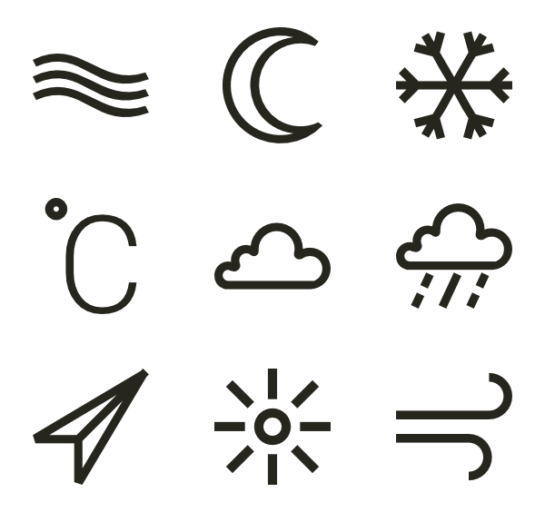 Linear Weather Elements - Elements PNG
