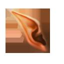 Orange Severed Elf Ear - Elf Ears PNG